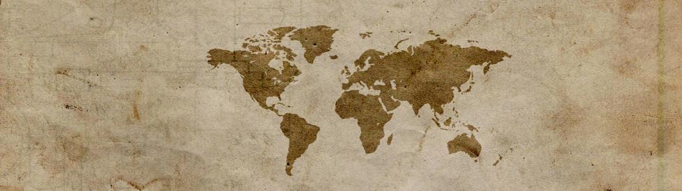 vintage world map 980 x 275